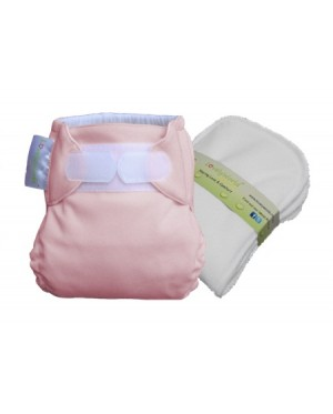 Cutie Pink New Born Fitted Cloth Diaper
