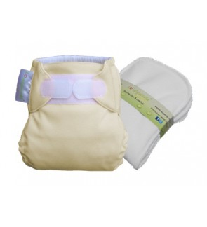 Mocha New Born Fitted Cloth Diaper