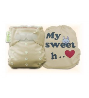 Mocha My Sweet Heart Diaper Cover Only