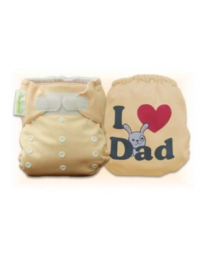 Creampuff  I Love Dad Diaper Cover Only