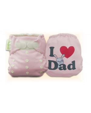 Cutie Pink I Love Dad Diaper Cover Only