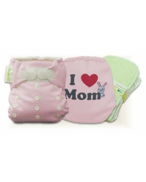 Cutie Pink I Love Mon Cloth Diaper