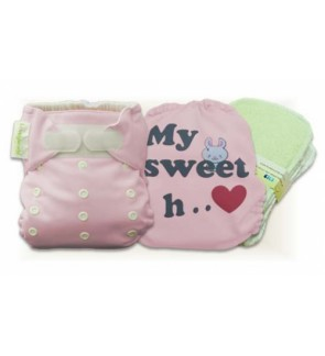 Cutie Pink My Sweet Heart Cloth Diaper