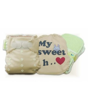 Mocha My Sweet Heart Cloth Diaper