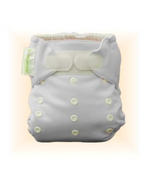 Milky White Plain Diaper Cover Only