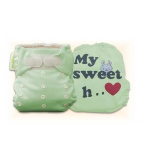 Natural Green My Sweet Heart Diaper Cover Only