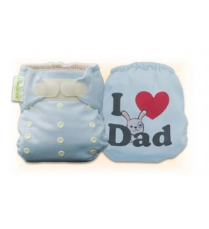 Tiffany Blue I Love Dad Diaper Cover Only