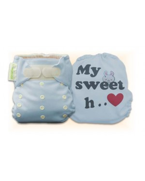 Tiffany Blue My Sweet Heart Diaper Cover Only
