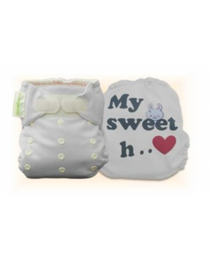Milky White My Sweet Heart Diaper Cover Only