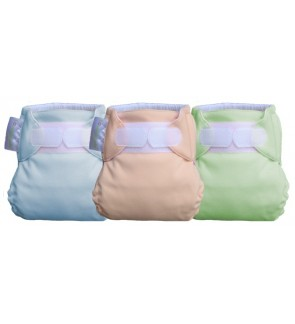 3pcs- NB Fitted Diaper Plain (any colours)