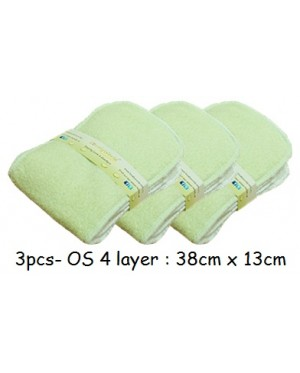 3pcs- Daily Bamboo Insert- 4 layer