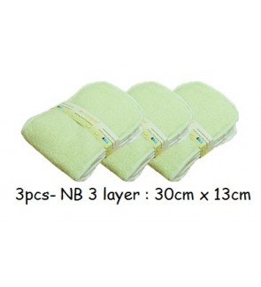 3pcs- New Born Bamboo Insert- 3 layer